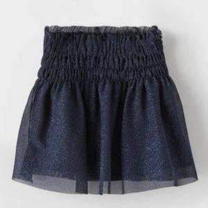 Zara Girls Sparkly Tulle Skirt Size 6 NWT